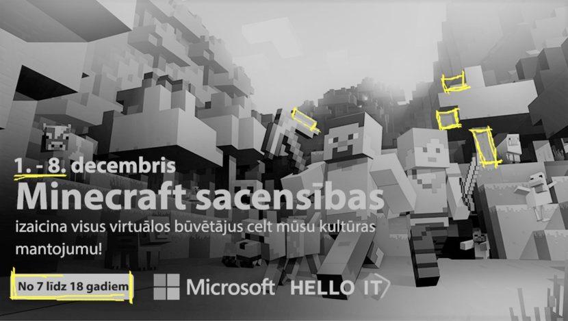 Microsoft LIKTA Minecraft sacensības